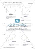 Flächeninhalt und Umfang: Rechteck und Quadrat Preview 29