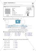 Flächeninhalt und Umfang: Rechteck und Quadrat Preview 33