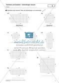 Flächeninhalt und Umfang: Rechteck und Quadrat Preview 3