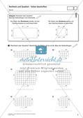 Flächeninhalt und Umfang: Rechteck und Quadrat Preview 4