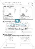 Flächeninhalt und Umfang: Rechteck und Quadrat Preview 6