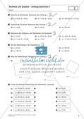 Flächeninhalt und Umfang: Rechteck und Quadrat Preview 8