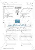 Flächeninhalt und Umfang: Das Parallelogramm Preview 4