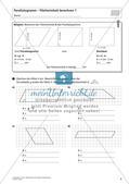 Flächeninhalt und Umfang: Das Parallelogramm Preview 7