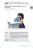 Politik_neu, Sekundarstufe I, Gemeinschaft, Politische Ordnung, Jugend und Medien, Grundlagen in der Bundesrepublik Deutschland, Mediennutzung, Willensbildung und Entscheidungsprozesse, Wirkung von Medienbeiträgen, Medien, Fake News, Neue Medien, Falschmeldungen, Gefahren im Internet