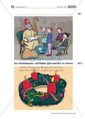 Religion-Ethik_neu, Sekundarstufe I, Feste und Feiern, Religiöse Feste, Advent und Weihnachten, Nikolaustag, Farben des Adventskranzes, Wer war der heilige Nikolaus?, Text zum Bischof von Myra, Steckbrief Nikolaus, Legende vom heiligen Nikolaus, Legende vom Kornwunder, Brauch Nikolaustag