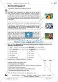 Freizeitaktivitäten und Sportarten: Einführung des Wortschatzes Preview 4