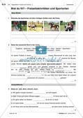 Freizeitaktivitäten und Sportarten: Test und Selbsteinschätzung Preview 3