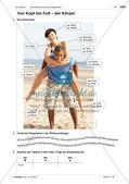 Körperteile und Befinden - Einführung des Wortschatzes Preview 2