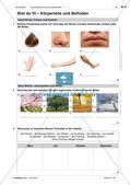 Körperteile und Befinden - Test und Selbsteinschätzung Preview 1