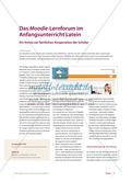 Das Moodle-Lernforum im Anfangsunterricht Latein Preview 1