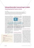 Interpretierender Lesevortrag in Latein: Anwendungsbeispiel des Programms Audacity Preview 1