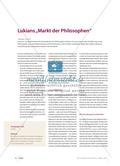 "Satire: Lukians ""Markt der Philosophen"" Preview 1"