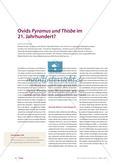 Ovids Pyramus und Thisbe im 21. Jahrhundert Preview 1