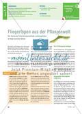 Fliegertypen aus der Pflanzenwelt - Die bionische Entwicklungsmethode nachempfinden Preview 1
