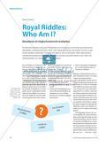 Royal Riddles: Who Am I? - Rätseltexte im Englischunterricht erarbeiten Preview 1