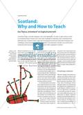 "Scotland: Why and How to Teach - Das Thema ""Schottland"" im Englischunterricht Preview 1"