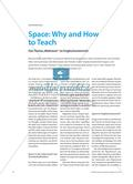 "Space: Why and How to Teach - Das Thema ""Weltraum"" im Englischunterricht Preview 1"