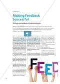 Making Feedback Successful - Reflexion und Feedback im Englischunterricht Preview 1