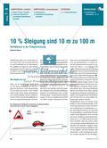 10 % Steigung sind 10 m zu 100 m - Verhältnisse in der Prozentrechnung Preview 1