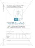Der Kegel – eine spezielle Pyramide: Die Formel zur Berechnung des Kegelvolumens selbstständig erarbeiten Preview 3