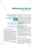 Mathematik und Sprache Preview 1