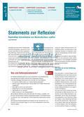 Statements zur Reflexion - Regelmäßige Schreibanlässe zum Wochenabschluss schaffen Preview 1