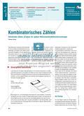 Kombinatorisches Zählen - Geschicktes Zählen als Basis für spätere Wahrscheinlichkeitsuntersuchungen Preview 1