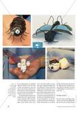 Eine Blauflügelige Sandschrecke ist mein Traum … - Zarte Wesen aus Draht und Verpackungsmaterialien Preview 3