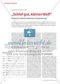 """""""Schlaf gut, kleiner Wolf"""" - Ein deutsch-arabisches Bilderbuch im Musikunterricht Preview 1"""