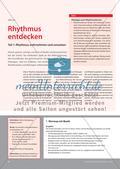 Rhythmus entdecken - Teil 1: Rhythmus wahrnehmen und umsetzen Preview 1