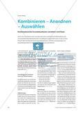 Kombinieren – Anordnen – Auswählen: Kombinatorische Grundsituationen verstehen und lösen Preview 1