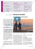 Internet for the blind - Einen Artikel verstehen und zusammenfassen Preview 1