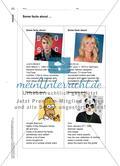 Celebrities in the media – my role models?: Sich kooperativ über die Vorbildrolle verschiedener Stars austauschen Preview 4