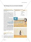 Bänder gemeinsam tanzen lassen - Bewegungsformen mit dem Band entdecken und präsentieren Preview 2