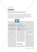 Fabeln - Ein Genre für den aktuellen Literaturunterricht? Preview 1