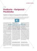 Postkarte – Kartpostal – Pocztόwka: Vergleichen von Sprachen als Ausgangspunkt der Sprachreflexion Preview 1