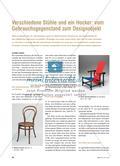 Verschiedene Stühle und ein Hocker: vom Gebrauchsgegenstand zum Designobjekt Preview 1