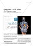 Mode / Textil – textile Hüllen: eine Strukturanalyse: Analyse- und Interpretationsmodelle im Großraum Kunst Preview 1