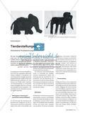 Tierdarstellungen - Abstrahierte Pinselzeichnungen Preview 1