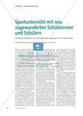 Sportunterricht mit neu zugewanderten Schülerinnen und Schülern - Förderung sprachlicher und soziokultureller Integration im und durch Sport Preview 1