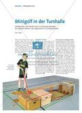Minigolf in der Turnhalle - Schülerinnen und Schüler einer Grundschule gestalten ihre eigenen Bahnen und organisieren ein Minigolfturnier Preview 1