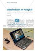 Videofeedback im Volleyball - Schülerinnen und Schüler der Oberstufe nutzen Videoaufzeichnungen zur gegenseitigen Korrektur der Bewegungsausführung am Beispiel des unteren Zuspiels Preview 1