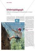 Erlebnispädagogik - Möglichkeiten erlebnispädagogischer Bewegungsaktivitäten im Schulsport Preview 1