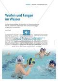 Werfen und Fangen im Wasser - Ein Mini-Wasserballspiel als Alternative im Schwimmunterricht, das alle Schülerinnen und Schüler ihren Lernvoraussetzungen entsprechend herausfordert Preview 1