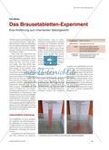 Das Brausetabletten-Experiment - Eine Hinführung zum chemischen Gleichgewicht Preview 1