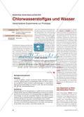 Chlorwasserstoffgas und Wasser - Verschiedene Experimente zur Protolyse Preview 1