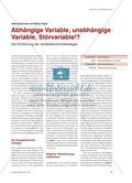 Abhängige Variable, unabhängige Variable, Störvariable!? - Die Einführung der Variablenkontrollstrategie Preview 1
