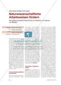 Naturwissenschaftliche Arbeitsweisen fördern - Kompetenzorientierte Experimente zur Reaktion von Säuren mit Metallen Preview 1