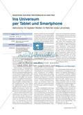 Ins Universum per Tablet und Smartphone - Astronomie mit digitalen Medien im Rahmen eines Lernzirkels Preview 1